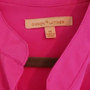 Gibson Latimer Tops - Gibson Latimer Hot Pink Blouse